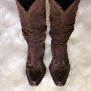STEVE MADDEN SADDLE Brown Leather Cowgirl Boots